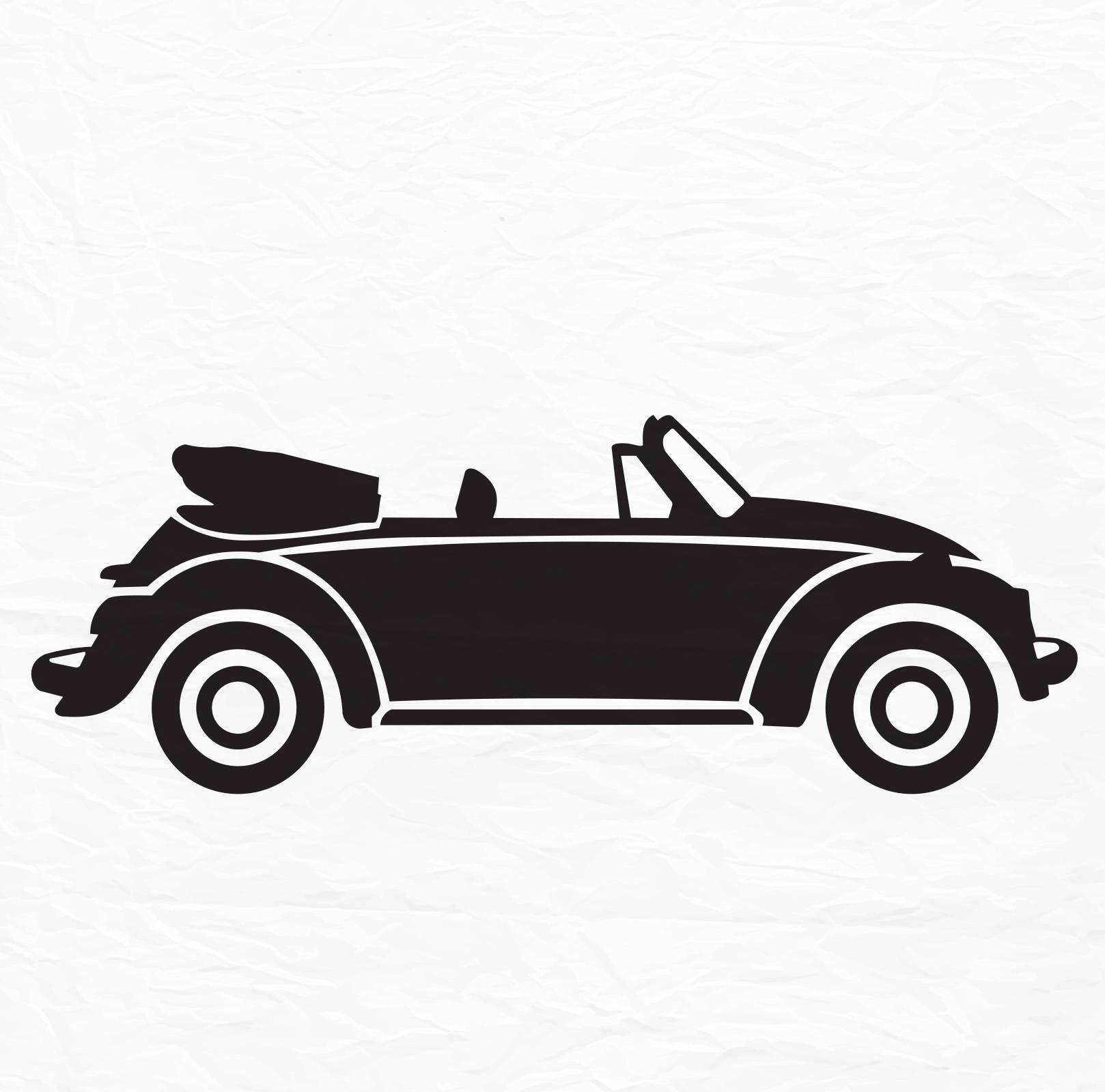 Download VW Beetle SVG File, Convertible, VW Bug svg File -Vector ...