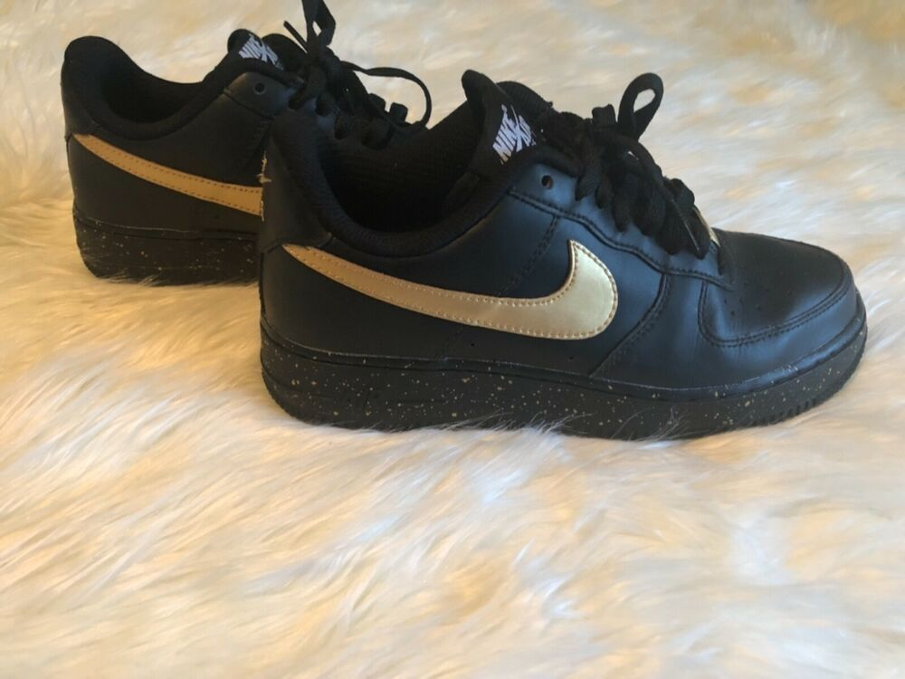 a137e2620dda8 NEW without box nike air black and gold size 7.5  fashion  clothing  shoes
