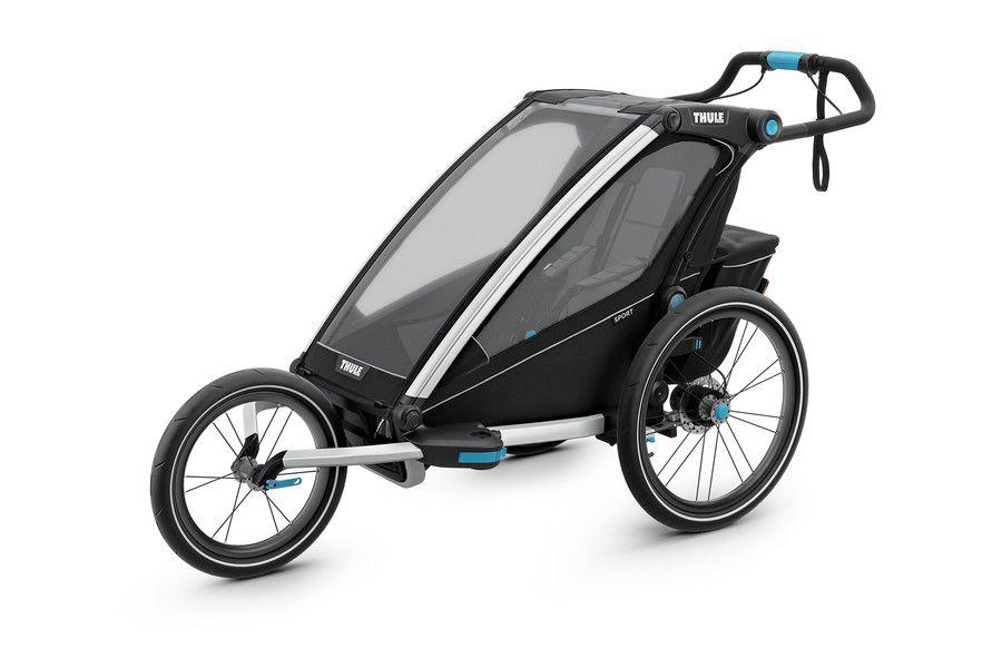 Thule Chariot Sport 1 Black Thule Chariot Stroller Baby Strollers