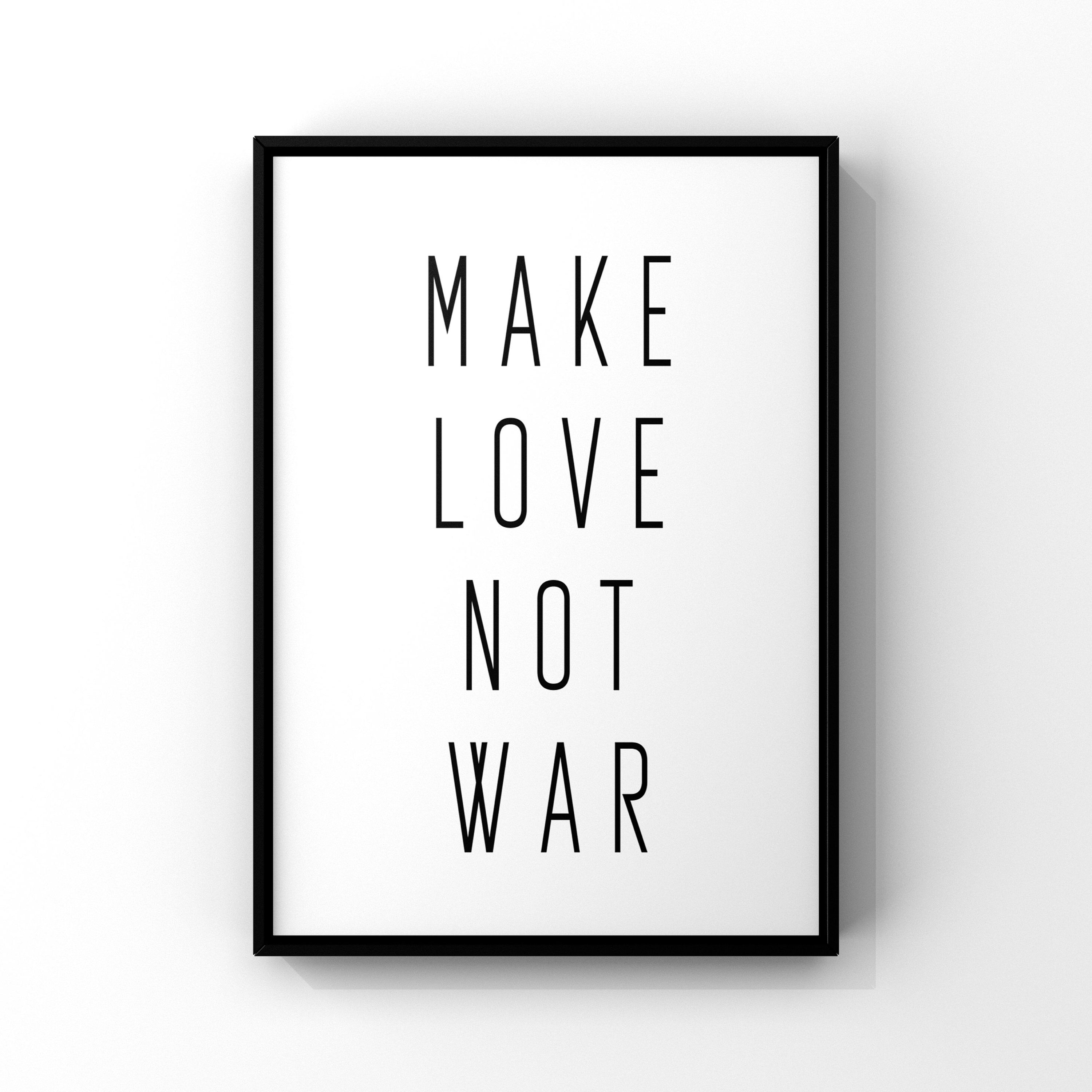 Make Love Not War Poster Resist Poster Feminist Printable Human Rights Protest Sign Hippie Wall Art Valenti Protest Signs Hippie Wall Art Etsy Printables