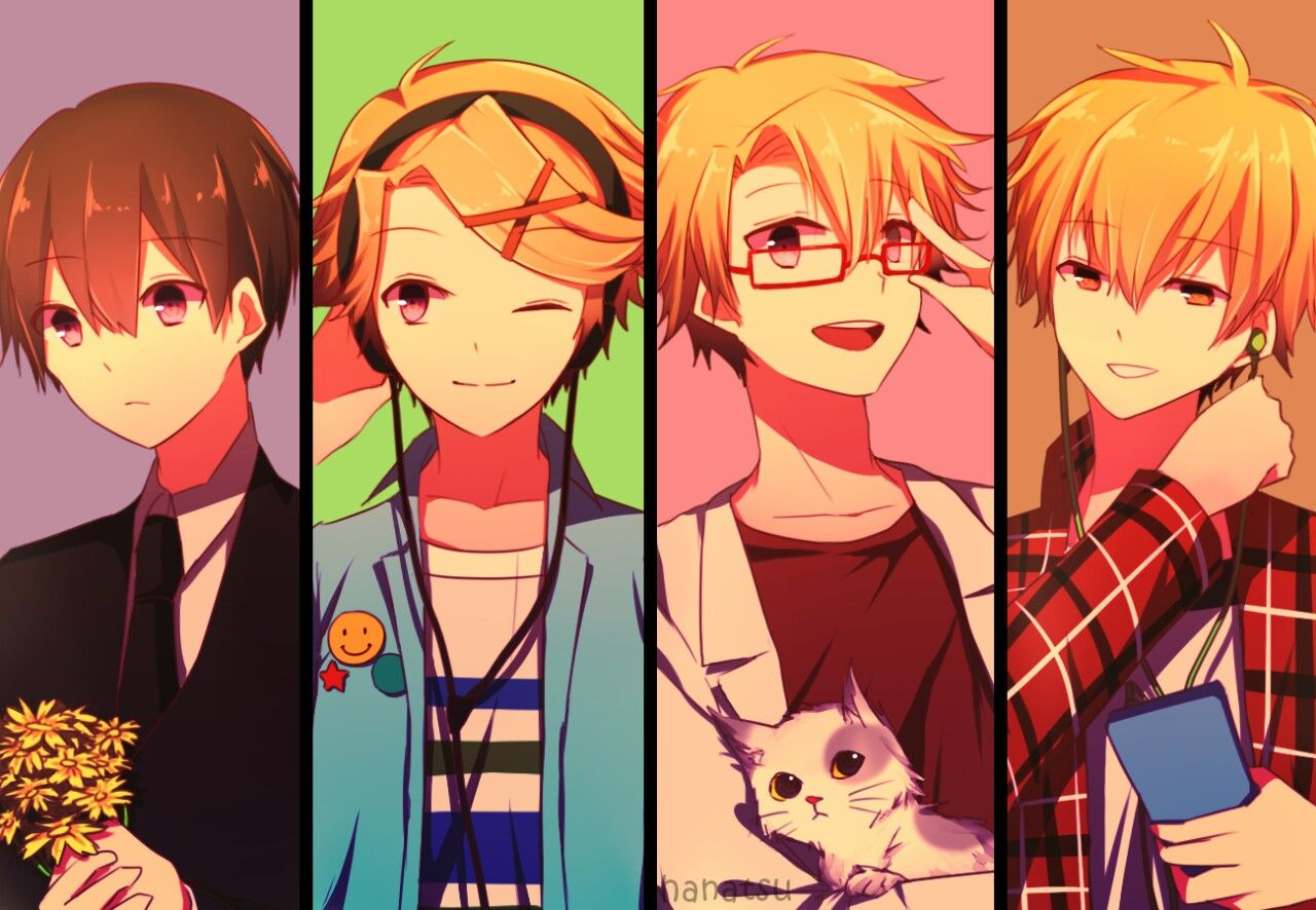 Yoosung Different Looks From Left To Right When Rika Died His