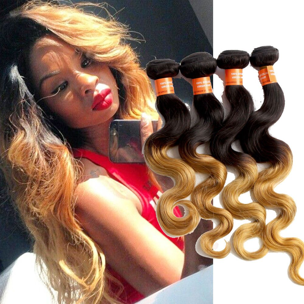 Brazilian Ombre Hair Extension 3bundles 6a Body Wave High Quality