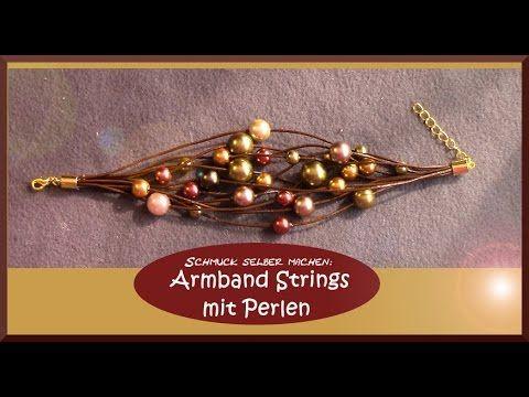 Schmuck designen online  Schmuck selber machen: Armband Strings mit Perlen ...