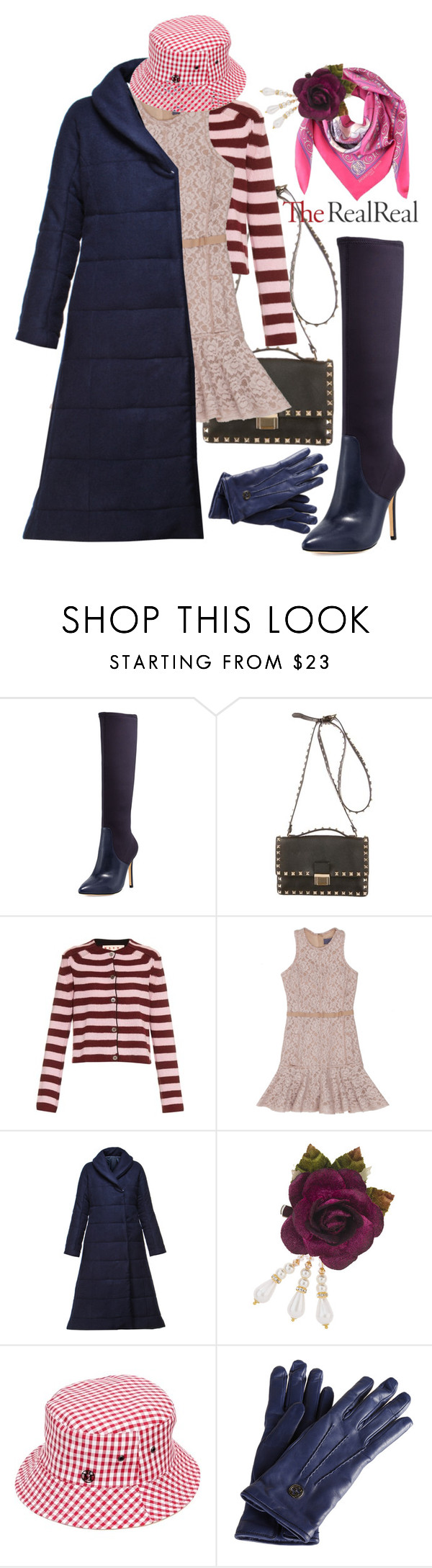 """Holiday Sparkle With The RealReal: Contest Entry"" by ul-inn ❤ liked on Polyvore featuring Halston Heritage, Valentino, Marni, Lanvin, N-DUO-CONCEPT, Topshop, Maison Michel and Gucci"