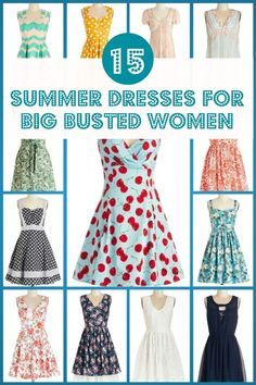 Flattering shirts for women with big boobs 15 Flattering Summer Dresses For A Big Bust And Tummy That You Will Love Summer Dresses Gorgeous Summer Dresses Big Bust Fashion