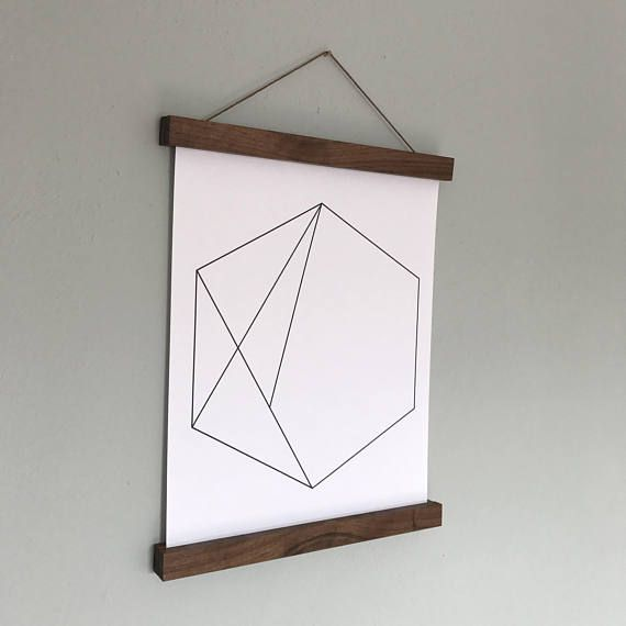 wood poster frames hanging posters