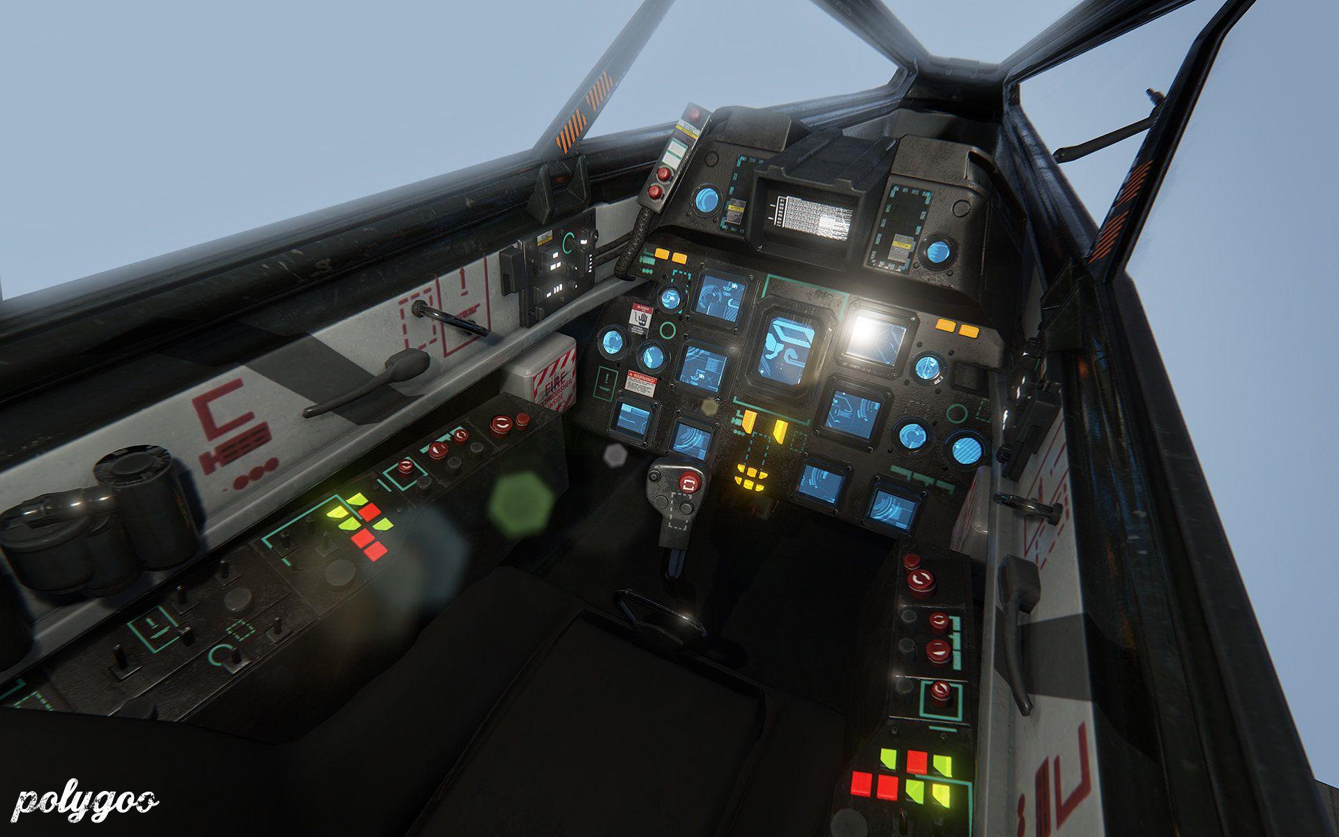 Artstation Spaceship Cockpit Alan Van Ryzin Concept Ships