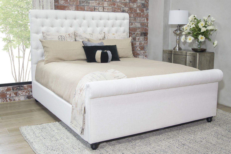 Chesterfield Linen Bed Bedroom Mor Furniture For Less Bett