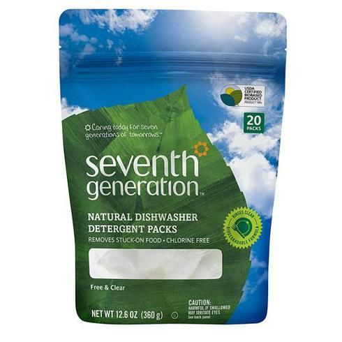 Seventh Generation Auto Dish Packs Free And Clear 20 Count Natural Dishwasher Detergent Dishwasher Detergent Natural Dishwashing