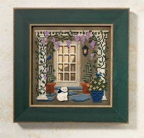 Wisteria Welcome Cross Stitch Kit Mill Hill 2006 Buttons /& Beads