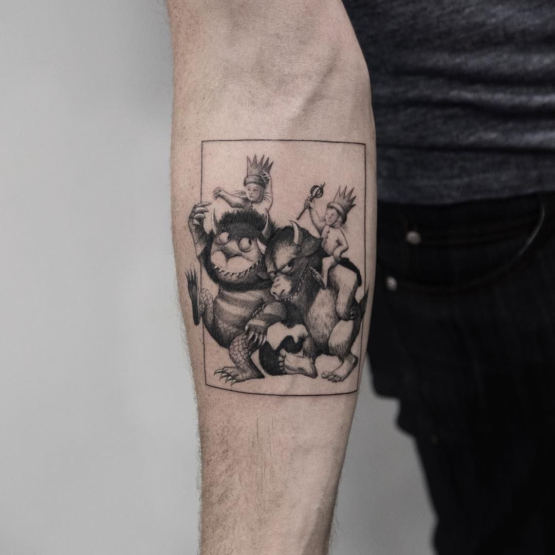 Where The Wild Things Are Tattoo By Oscar Akermo Best Tattoos