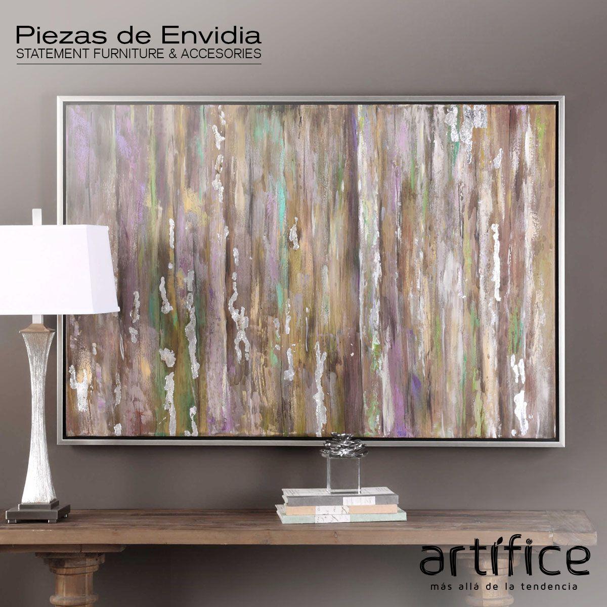 Una rica colección de colores se utilizan en esta obra de arte ...