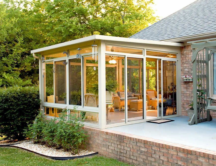 Perfect guide for adding a sunroom types costs and for House sunroom