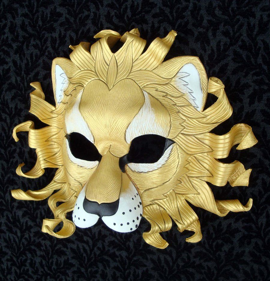 Gold Sun Lion Mask Two by *merimask on deviantART