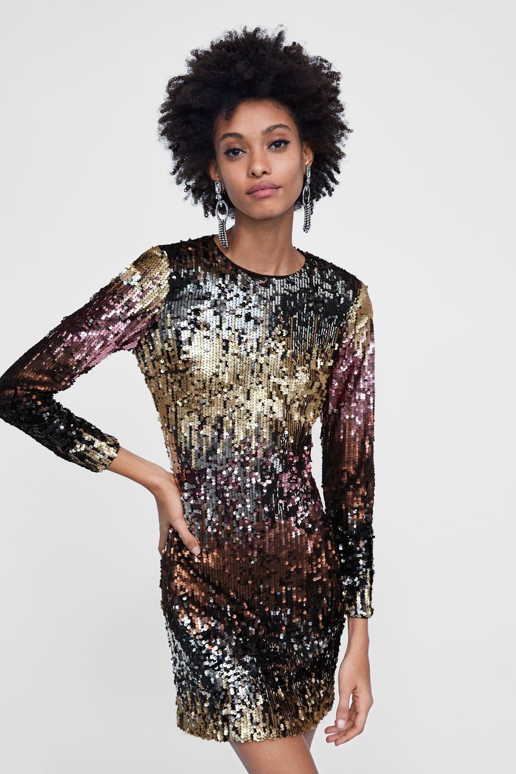 Abiti Eleganti Zara Online.Immagine 2 Di Abito Paillettes Di Zara Vestito Con Paillettes