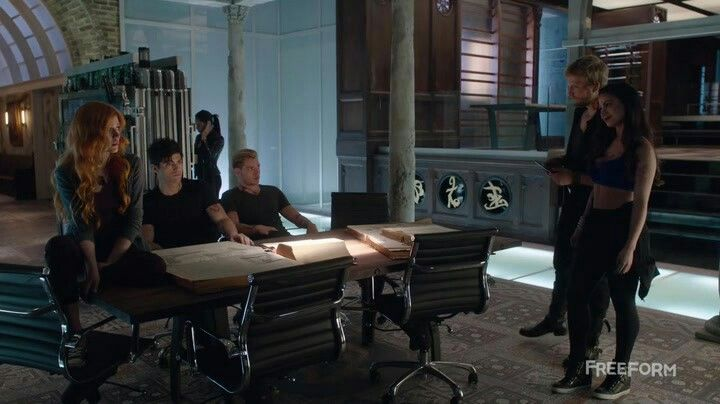 Clary and jace and Alec and Hodge and Isabelle