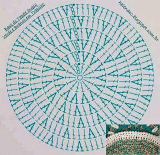 Je Aussi Crocheto Double Tapis Vert Et Blanc Dans