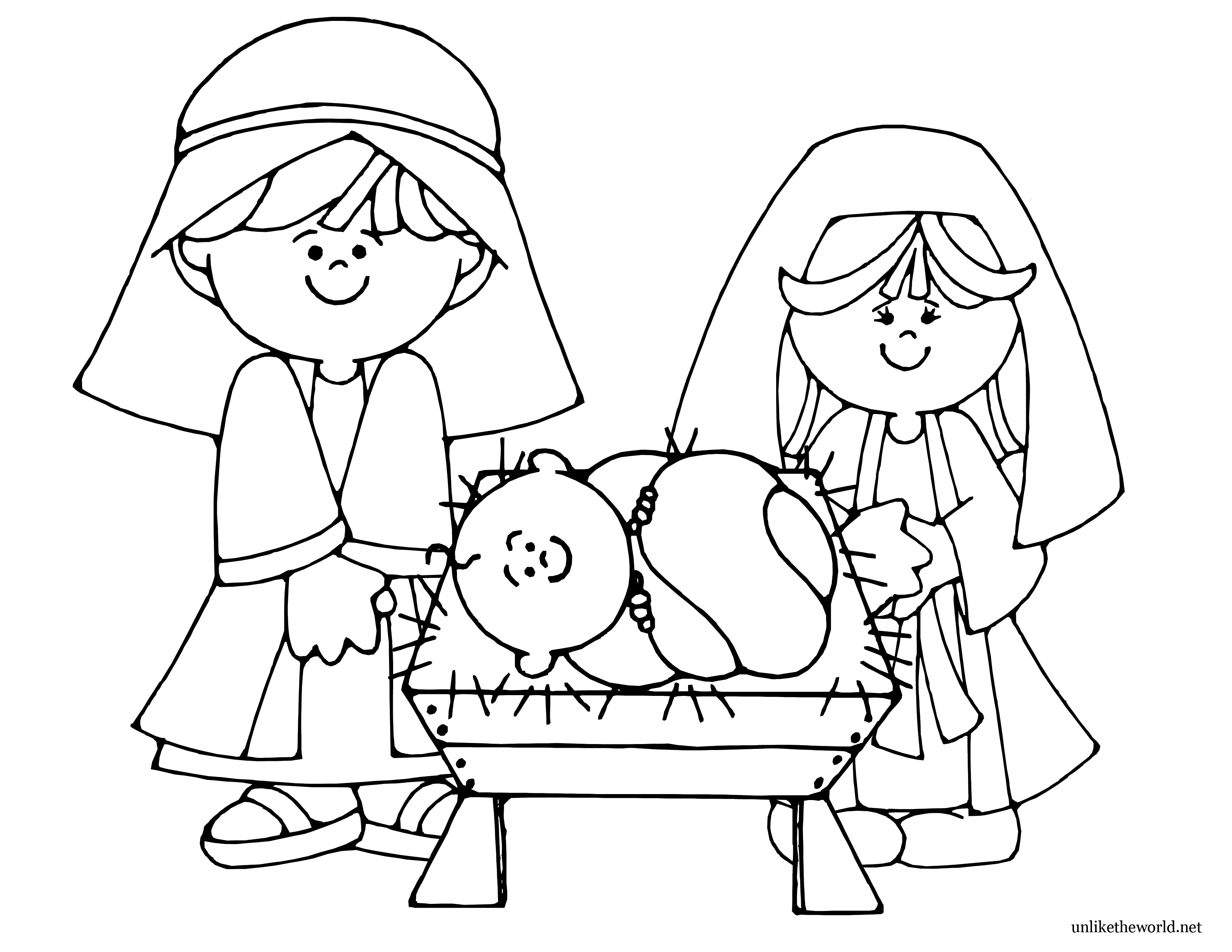 Nativity Coloring Pages Nativity Coloring Page Pictures