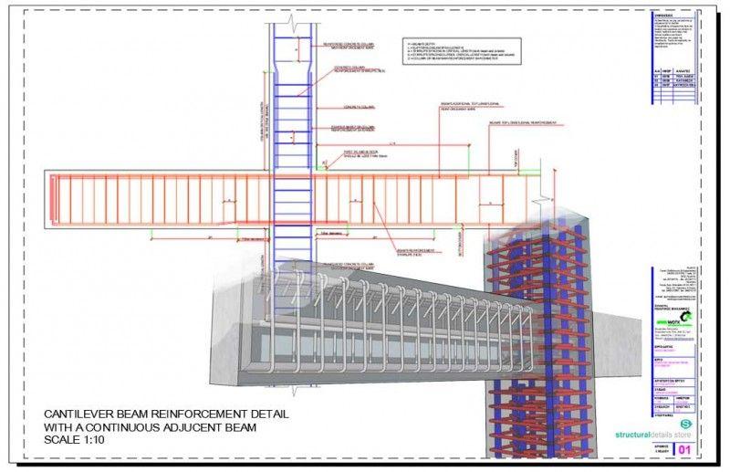 Reinforced Concrete Constant Width Cantilever Slab Detail Reinforced Concrete Concrete Retaining Walls Concrete Column