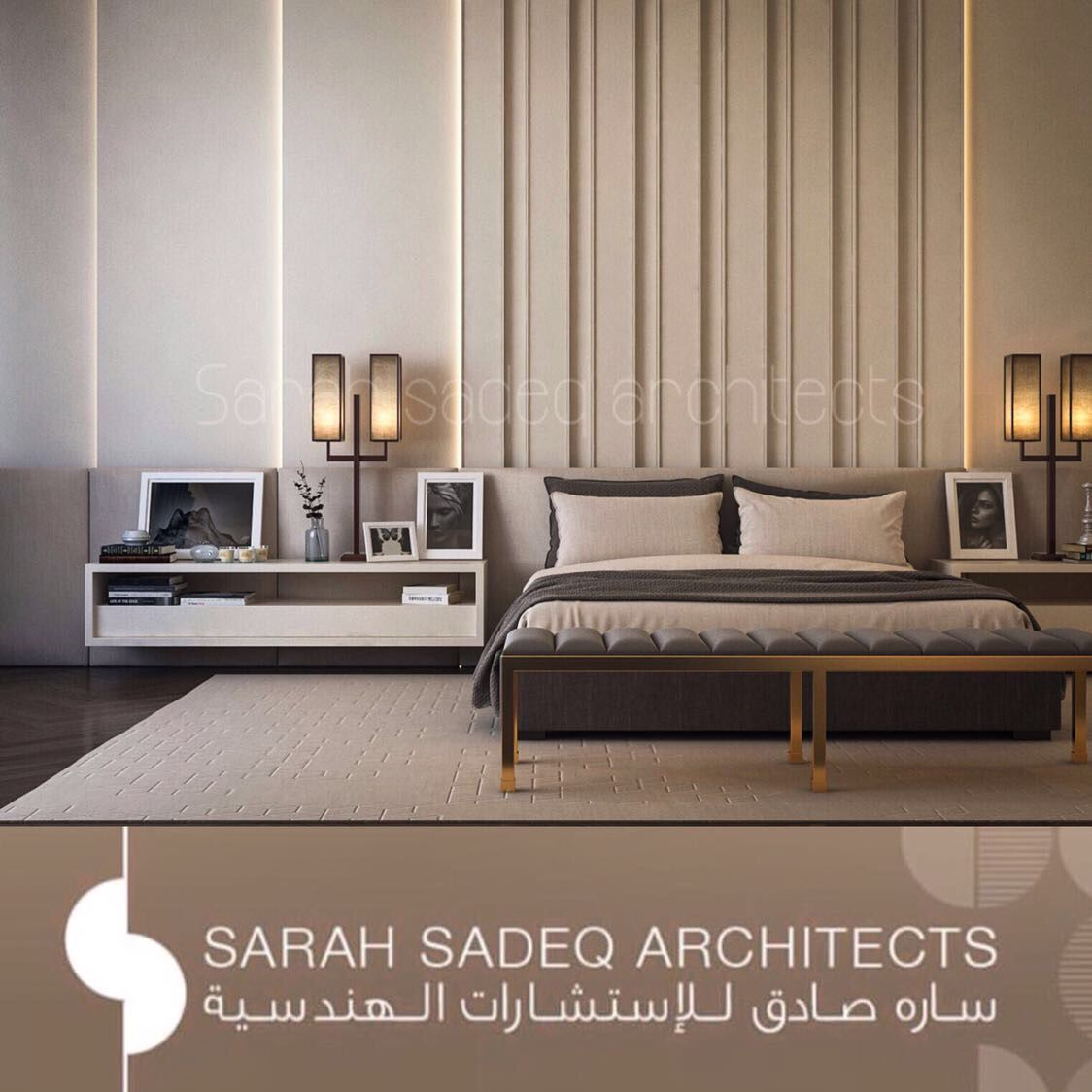 Private Villa Sarah Sadeq Architects Kuwait: Private Villa Interior , Sarah Sadeq Architects . Kuwait