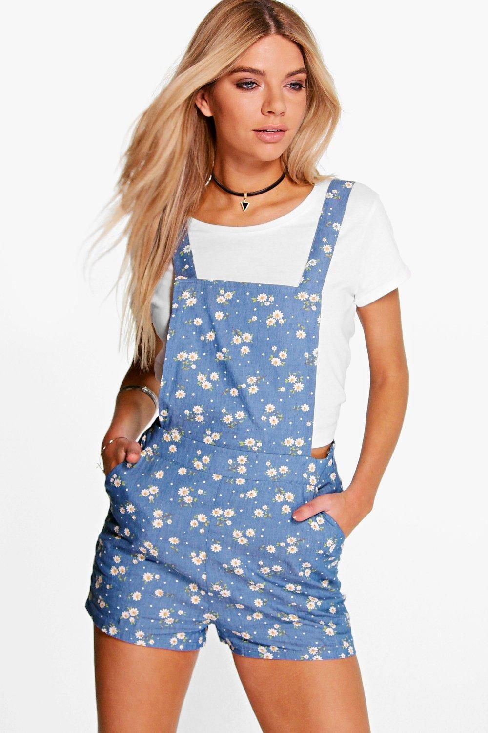 Denim playsuit