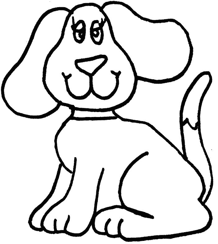 Simple Dog Coloring Page Dog Coloring Page Easy Coloring Pages