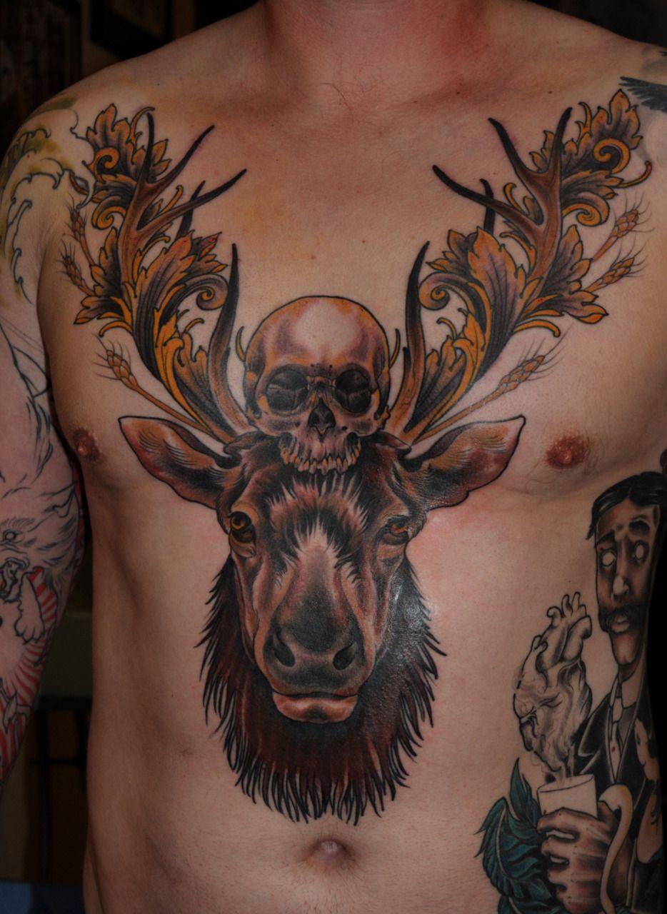 Moose Skull Nice Tattoo Tatoo Tatuagem Tatuagens