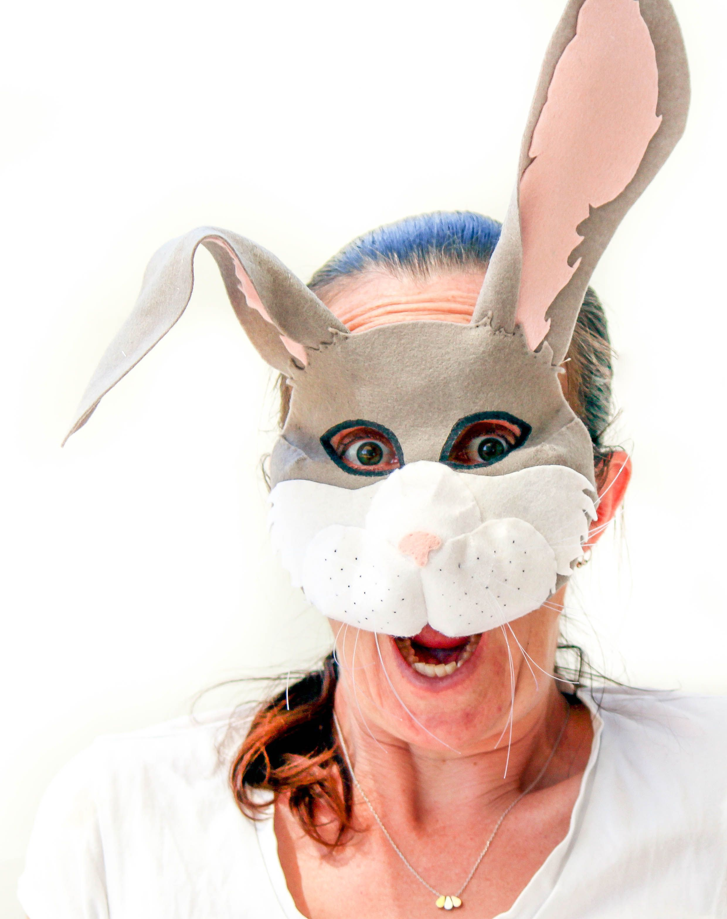 Make your own Easter Bunny or Peter Rabbit mask with this easy to