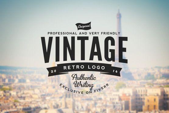 huydesignvn : I will design a Retro Vintage LOGO for $5 on www.fiverr.com