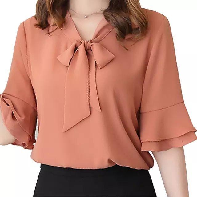 Blusas de chifón 2019, nueva camisa para mujer, moda