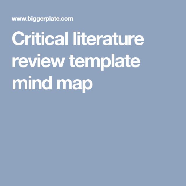 Critical Literature Review Template Mind Map Mind Map Literature Mind Map Template