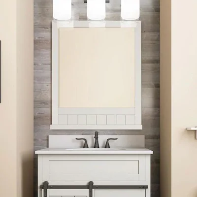 Style Selections Morriston 26 In White Rectangular Bathroom Mirror
