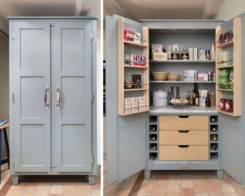 Free Standing Kitchen Storage Fascinating Updating A Pine Wardrobe  Pantry Cupboard Kitchen Pantries And Design Decoration