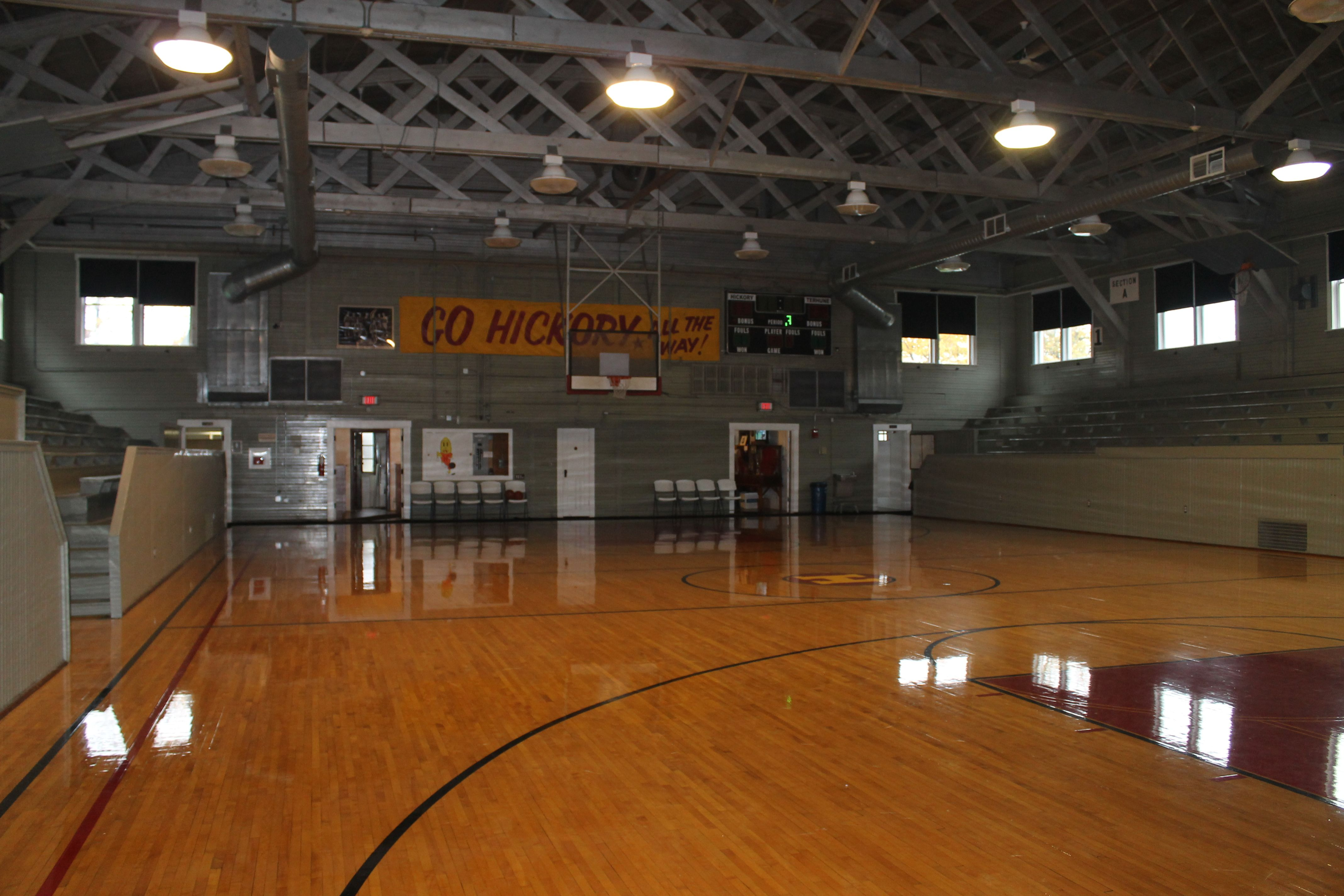 "The ""Hoosier Gym"" in Knightstown, Indiana used in the"