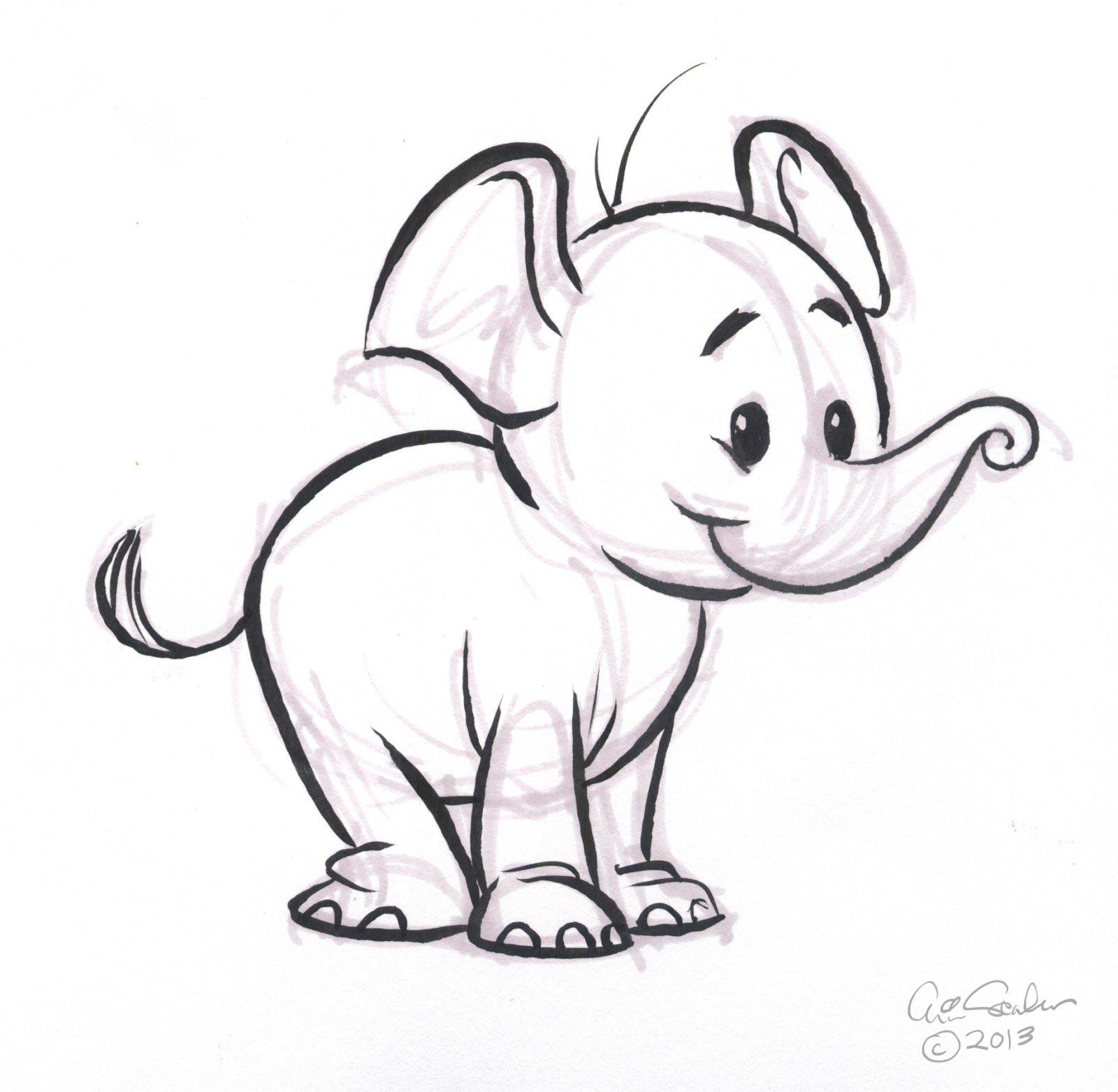 Baby Elephant Wallpaper Cartoon Elephant sketch