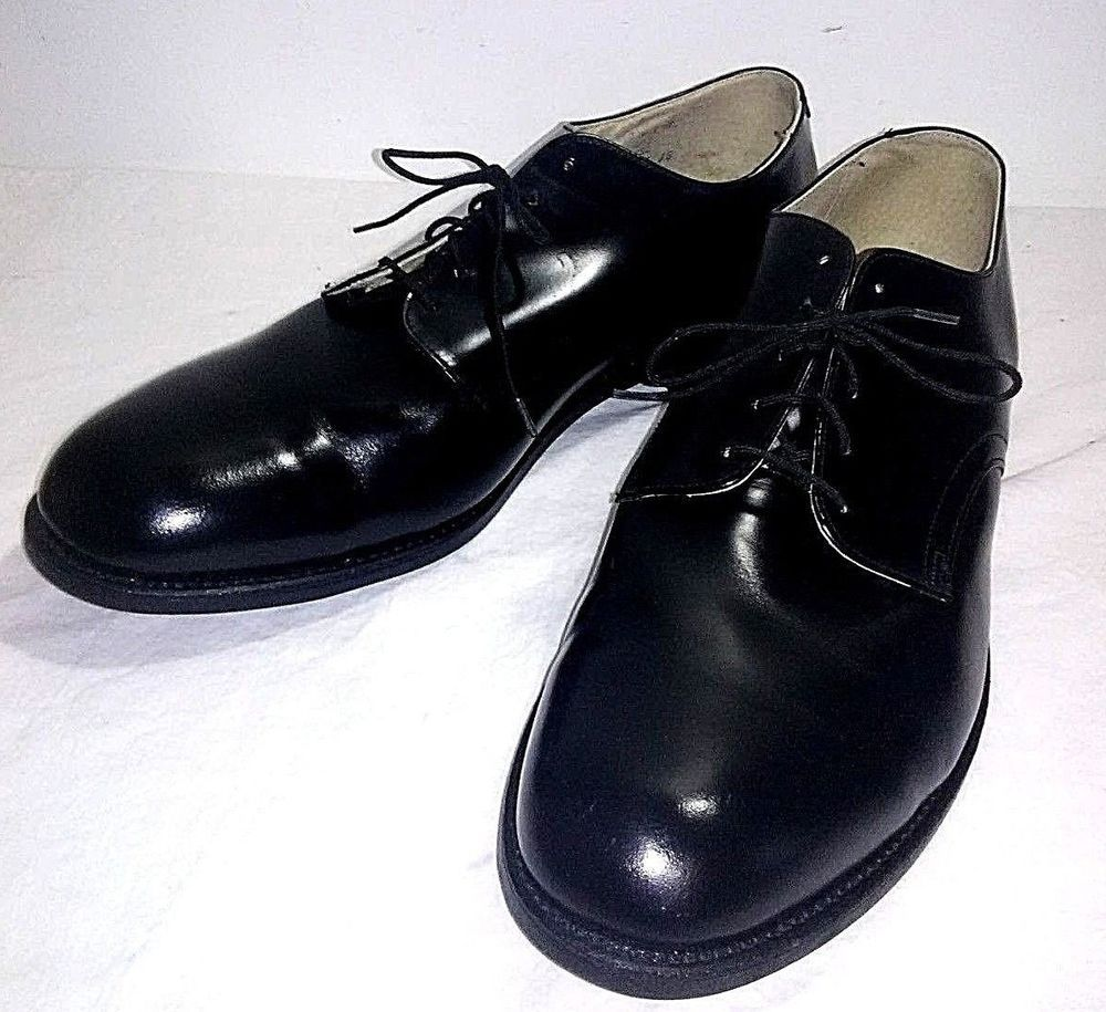 13018ae9099 Wolverine World Wide Men s Military Dress Shoes Size141 2R Black Leather  Uniform  Wolverine  LaceDress  Formal