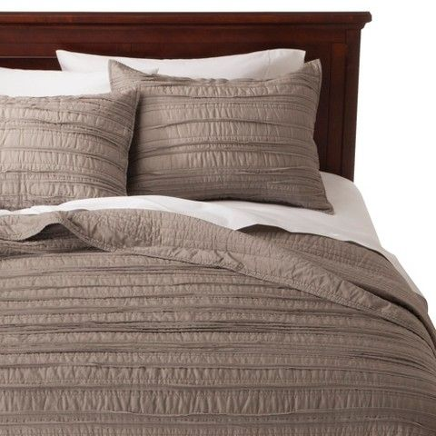 Threshold Raw Edge Quilt Gray King Quilt Bedding Grey Quilt King Quilt