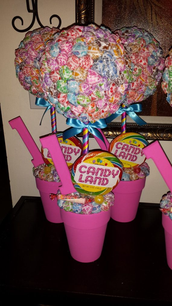 Candy Land Dum Dum Topiary Centerpiece by