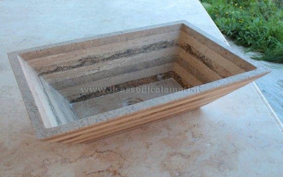 Guru shop lavandino in pietra di fiume lavabo lavandino in