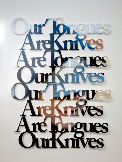Knives (Sentiment) Missy Weimar , 2013 laser cut ink-jet photo, board, wood, framed
