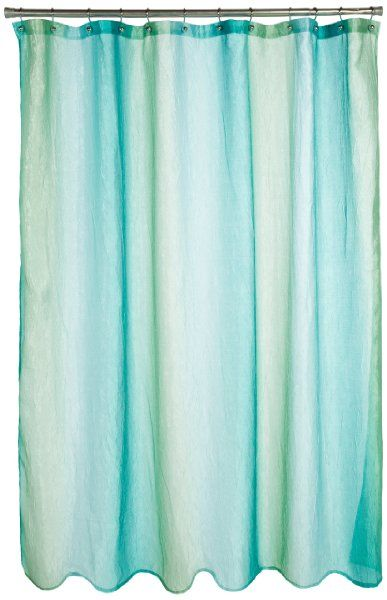 Interdesign Ombre Print Shower Curtain 72 By 72 Blue Green Amazon Home Kitchen Fabric Shower Curtains Curtains Ombre Shower Curtain