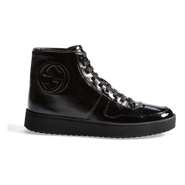2607fedcb9dc GUCCI  Soho  High Top Sneaker ❤ liked on Polyvore featuring shoes