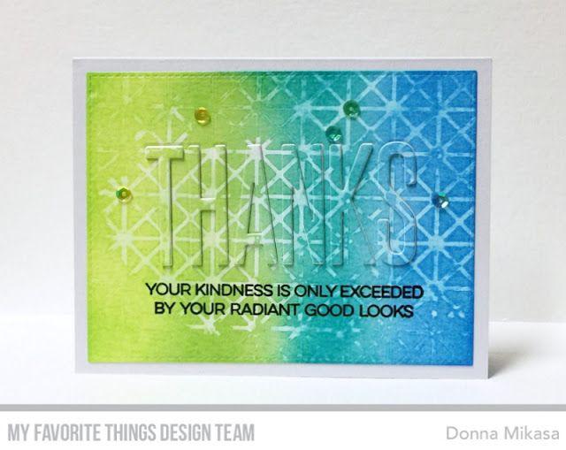 Framework Stencil, Big Thanks Die-namics - Donna Mikasa