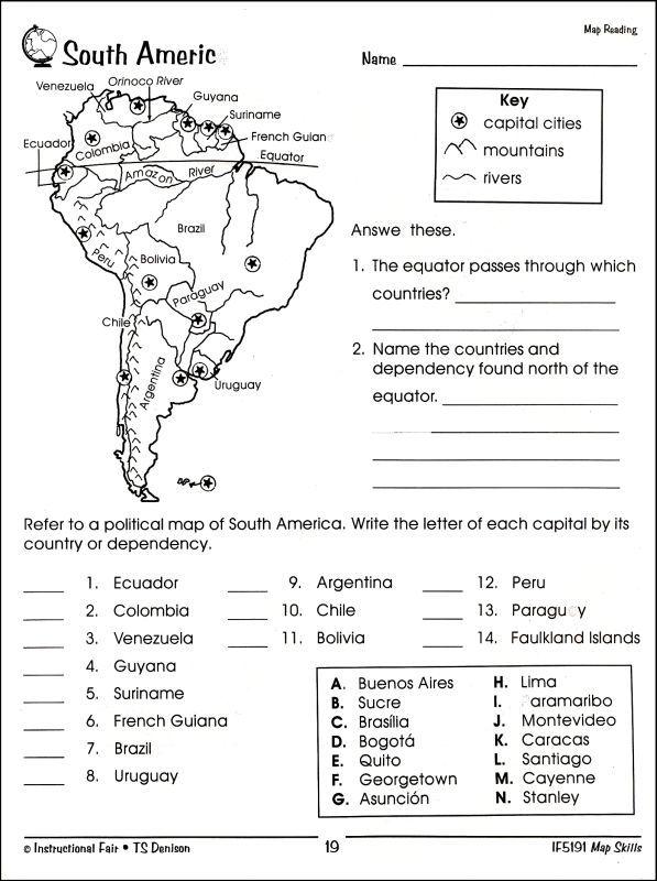 image result for south america worksheets for middle school 5 year olds geography worksheets. Black Bedroom Furniture Sets. Home Design Ideas