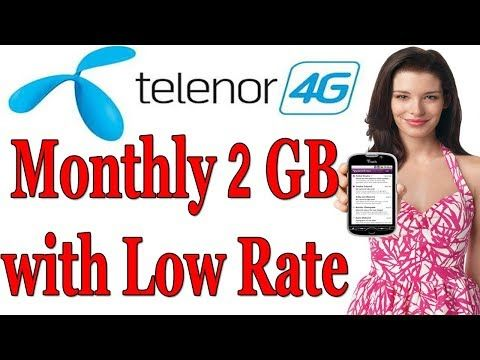 Telenor 2gb Internet Package Monthly Internet Packages Months Internet