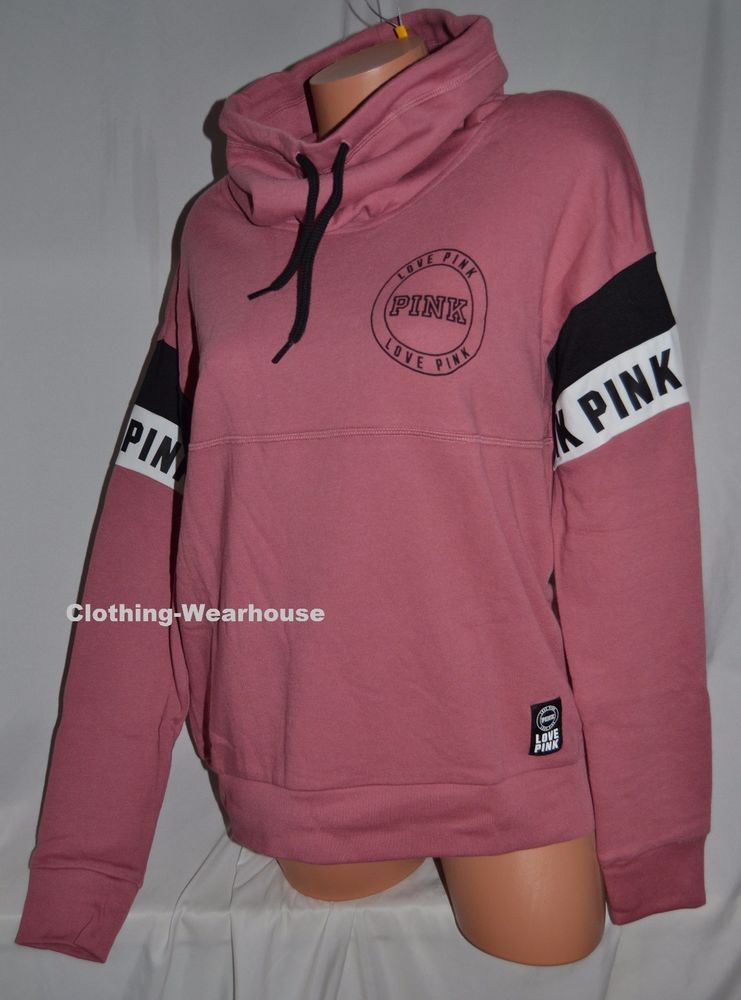9b470f65de16b Victoria's Secret PINK High Cowl Neck Pullover Sweatshirt Soft ...