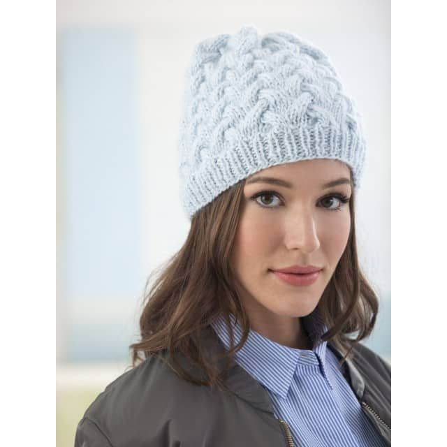 41979e69b20 Waving Cables Hat (Knit) - Lion Brand Yarn