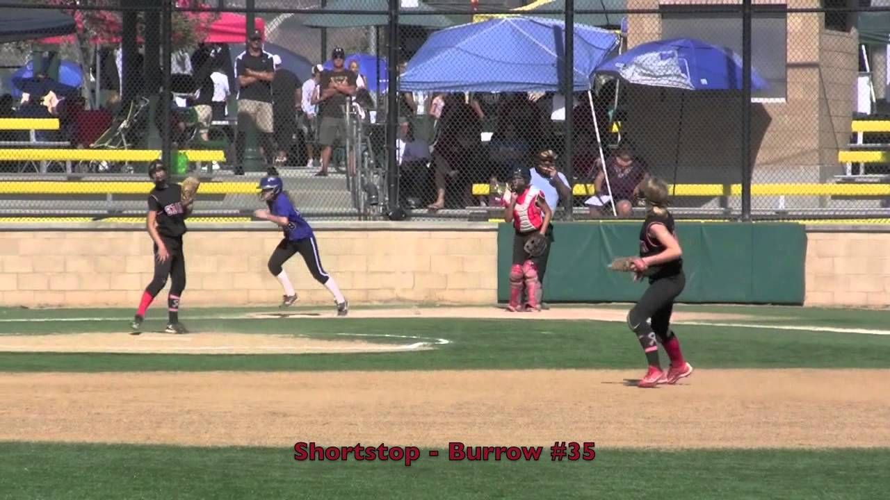 Emily Burrow Shortstop Fly Ball Catch Out Vs Legacy Fast Pitch Softbal With Images Softball Tournaments Fly Ball