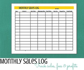 Printable Monthly Sales Log by WordsWithPurpose on Etsy | Other ...