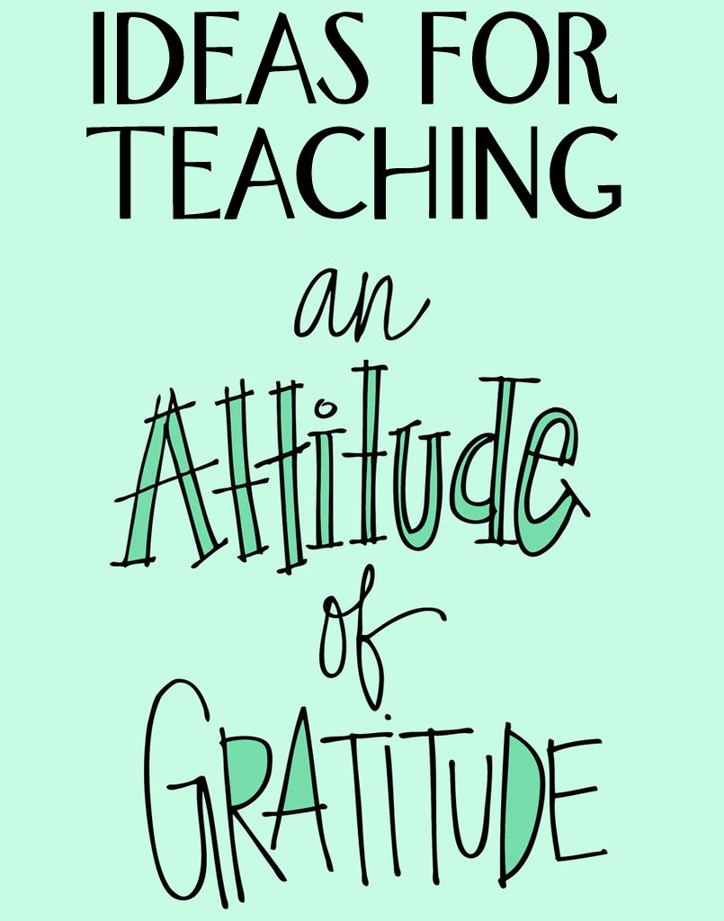"""Check out these wonderful Thanksgiving ideas to teach an """"Attitude ..."""